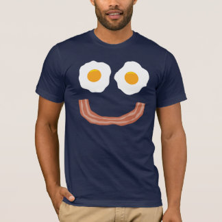 T-shirt Smiley de lard d'oeufs