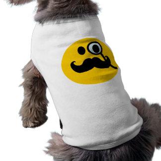T-shirt Smiley de monocle et de moustache (backgrnd