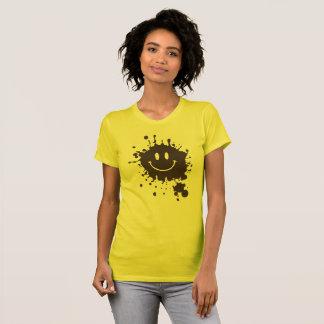 T-shirt Smiley Forrest Gump de boue