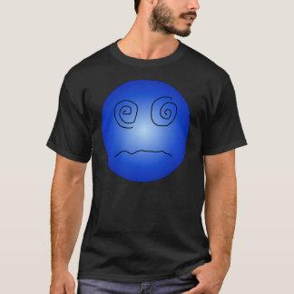 T-shirt Smiley stupéfié et confus de bleu