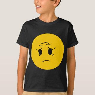 T-shirt smiley triste