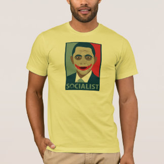T-shirt Socialiste de joker d'Anti-Obama