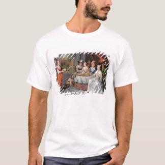T-shirt Société élégante dinant dans un hall à colonnes