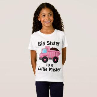 T-Shirt Soeur de camion de construction grande à petit