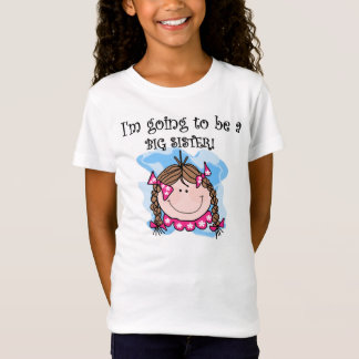 T-Shirt Soeur de fille de brune future grande