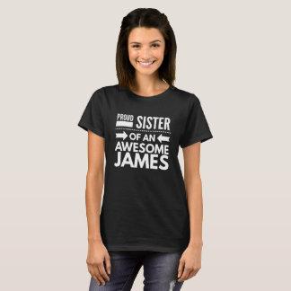 T-shirt Soeur fière de James impressionnant