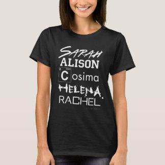 T-shirt Soeurs orphelines de club de clone du noir |