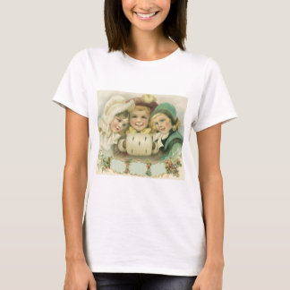 T-shirt Soeurs vintages de Noël, enfants victoriens