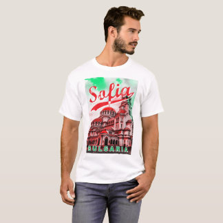 T-shirt Sofia, Bulgarie, Alexander Nevsky Cathedral, red