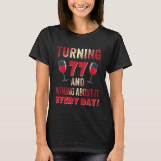 T-shirt Soixante-dix-septième anniversaire drôle de