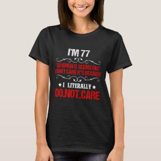 T-shirt Soixante-dix-septième costume drôle d'anniversaire
