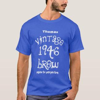 T-shirt soixante-dixième Cadeau d'anniversaire cru de 1946