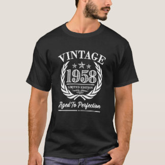 T-shirt Soixantième anniversaire du cru 1958 indiquant la