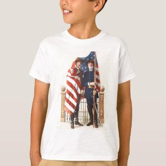 T-shirt Soldat confédéré des syndicats de drapeau des USA
