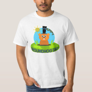 T-shirt Soleil heureux de jour de Groundhog