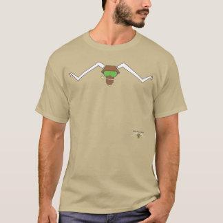 T-shirt solitaire de boeuf d'étoile d'Attitudinous