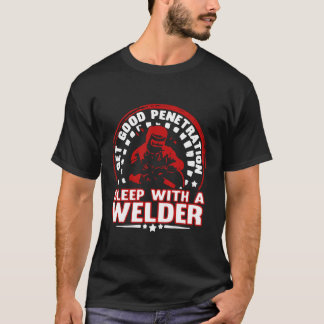 T-shirt Sommeil avec une soudeuse
