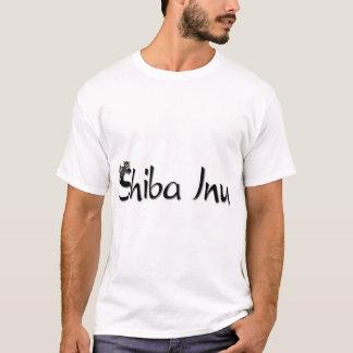 T-shirt Sommeil Shiba noir et bronzage Inu