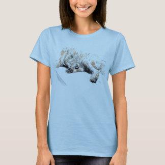 T-shirt somnolent de Labradoodle