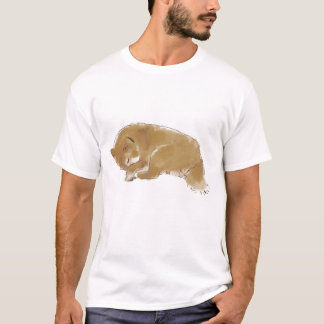 T-shirt somnolent de Shiba Inu