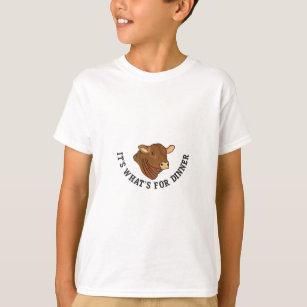 T-shirt Son ce qui est pour le dîner
