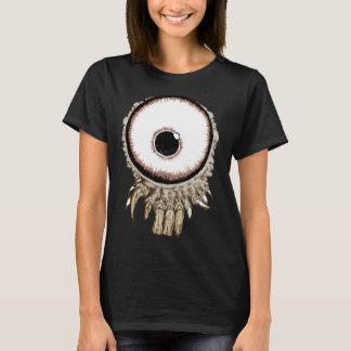 T-shirt Son un oeil freaking avec des dents