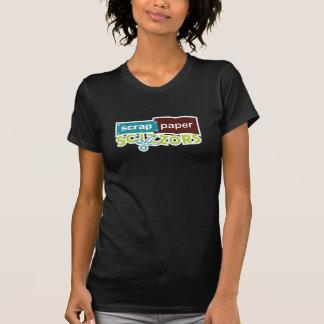 T-shirt Sonnerie de Scizzors de papier de chute