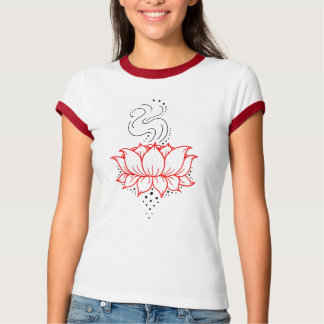 T-shirt Sonnerie T de dames de Lotus de henné