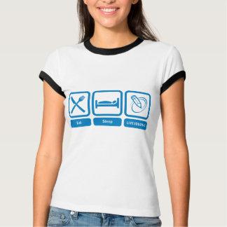 T-shirt Sonnerie T de dames (mangez, dormez, LiveJournal)