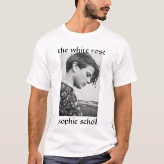 T-shirt SophieScholl, le rose blanc, scholl de sophie