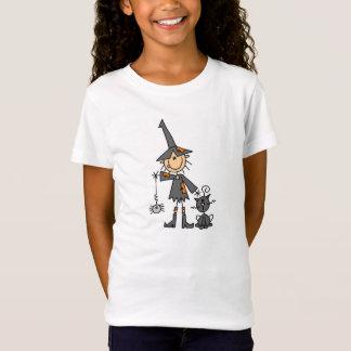 T-Shirt Sorcière avec le chat noir