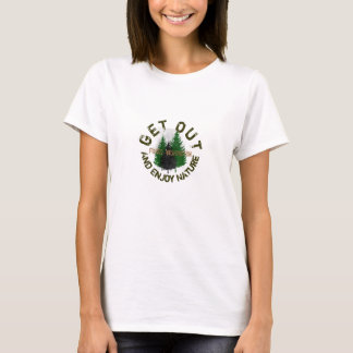 T-shirt Sortez et appréciez les fourchettes de nature,