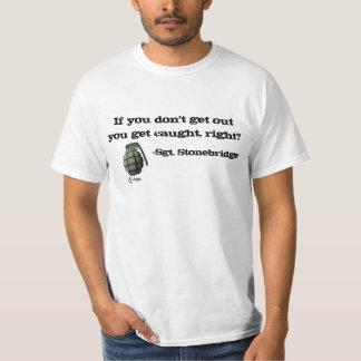 T-shirt Sortez ou faites-vous attraper !