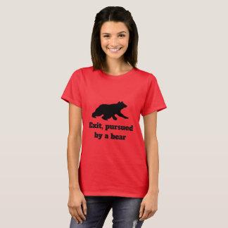 T-shirt Sortez, poursuivi par un ours - chemise de