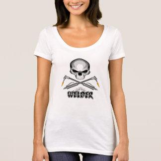 T-shirt Soudeuse de crâne et torches croisées