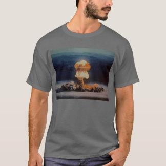 T-shirt Souffle de bombe atomique, bleu avec le boulon de
