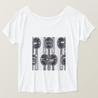 T-shirt Souiller-Verre-Chef-Cuillère-Jour-Nuit-Dessus