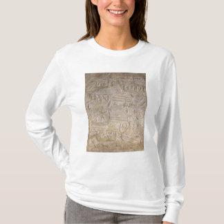 T-shirt Soulagement dépeignant le déchargement du bois