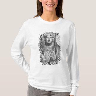 T-shirt Soulagement funéraire d'un chiffre femelle, de