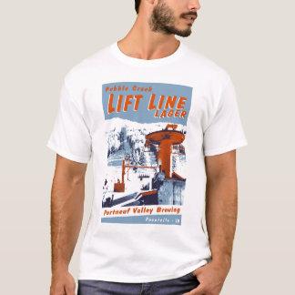 T-shirt Soulevez la ligne bière blonde allemande