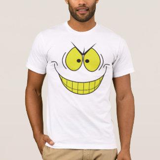 T-shirt souriant de visage sourire mauvais de