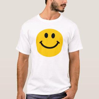 T-shirt souriant heureux jaune de visage