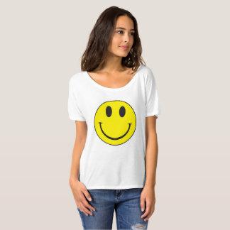 T-shirt souriant vintage de visage