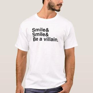 T-shirt Sourient et soient un voyou