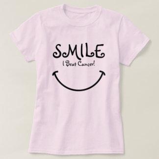 T-shirt Sourire, j'ai battu le Cancer