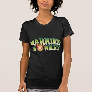 T-shirt Sourire marié de singe