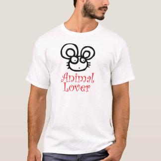 T-shirt Souris d'amoureux des animaux