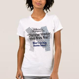 T-shirt Sous le scoop décontracté de dames de gallon