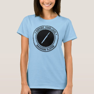 T-shirt Soutenez votre joueur local de basson