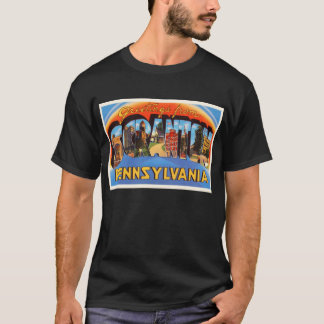 T-shirt Souvenir vintage de voyage de PA de Scranton